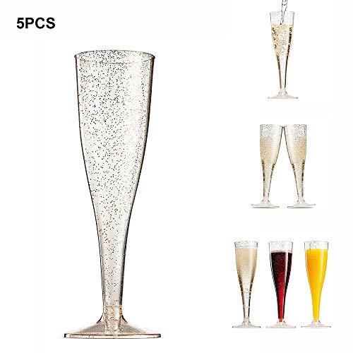 Plastic Rode Wijnglas Bruiloft Toast Champagne Fluiten Glazen Feest Bruiloft Cocktail Drink Bekers