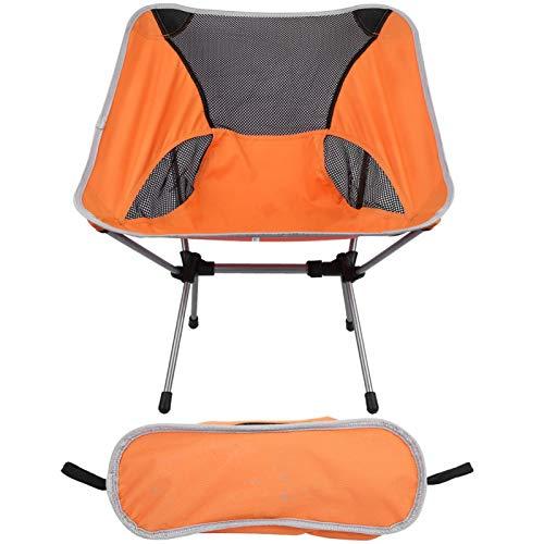 Silla de Pesca, Silla Plegable portátil Silla de Camping portátil Ligera con Bolsa para Viajar para Pescar para Acampar para Picnic(Orange)