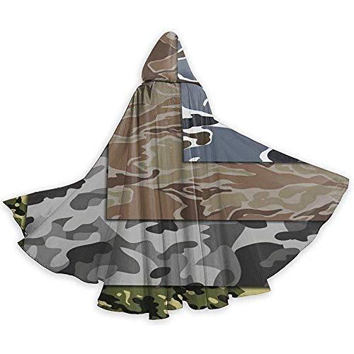 KDU Fashion Wizard Cape, Bossen Militaire Leger Camouflage Decoratieve Heks Wizard Kostuums Voor Jongens Meisjes Kinderen, 40x150cm