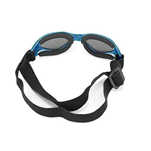 HUI JIN Gafas de sol para perro con protección antiojos, impermeables, resistentes al viento, color azul