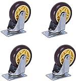 Ruedas de freno, Ruedas giratorias universales de 3/4/5 pulgadas, ruedas...