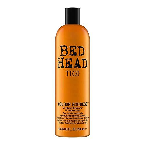 TIGI Bed Head Colour Goddess Oil Infused Conditioner 750 ml zapewnia maksymalną jasność zamiast blaknącego koloru 750 ml