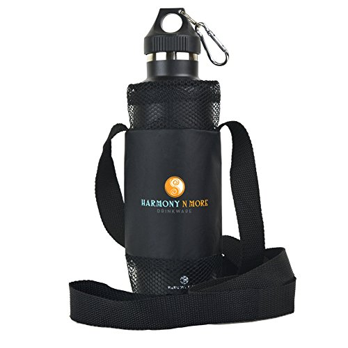 Best Water Bottle Holder – Sling – Pouch - Carrier - Case - Made of Mesh and Durable Nylon, Water Proof, Light Weight, Comfortable Shoulder Strap, Fits Most All Universal Water And Sports Bottles