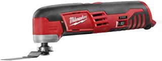 Milwaukee 2426-20 M12 12 Volt Redlithium Ion 20,000 OPM Variable Speed Cordless Multi Tool with Multi-Use Blade, Sanding Pad, and Multi-Grit Sanding Papers (Battery Not Included, Power Tool Only)
