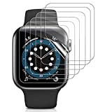 6 Pack Screen Protector Compatible with Apple Watch Series 6//5/4/SE 44mm,Full Coverage HD Ultra Bubble-free Anti Scratch High Sensitive Flexible TPU Protective Cover Film for iwatch 6/5/4/SE 44mm