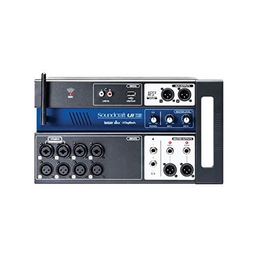 Soundcraft Ui12Digitaler Mischer mit 12 Kanälen und Fernsteuerung, schwarz Kanal 12 12 Channel Schwarz
