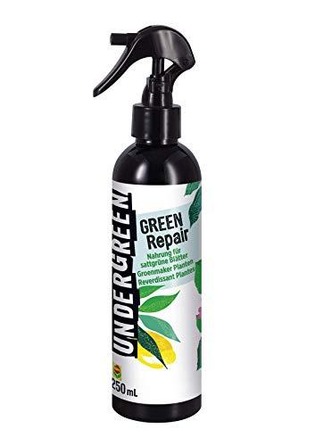 Undergreen Green Repair, Futter für kräftige, sattgrüne Blätter, Anti-Chlorose-Spray, Sprühflasche, 250 ml