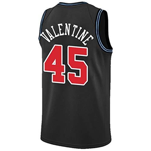 BCGT ChicagoBulls, 23 Michael Jeffrey Jordan, 8 Zach LaVine, Camiseta de Baloncesto Negro, S-XXXL 90S Hip Hop Party Ropa, Cosido Letters Numbers (Color : 3, Size : XXL)