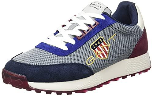 GANT Garold Sneaker, Zapatillas Hombre, Blue Gray Multi, 43 EU