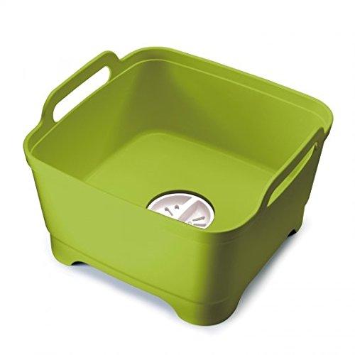 Joseph Joseph - Cestello Wash and Drain per lavare le stoviglie senza consumare acqua, colore: Verde