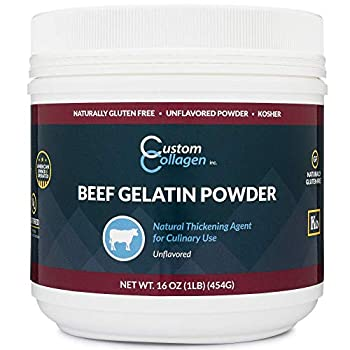 Plain Gelatin Powder - 1 lb  16oz  - Unflavored Kosher Pure - For Culinary Use Gummy Candy Jello Shots and More