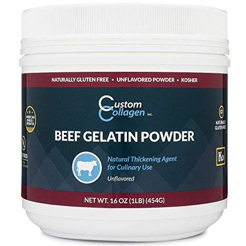 Plain Gelatin Powder - 1 lb (16oz) - Unflavored, Kosher, Pure - For Culinary Use, Gummy Candy, Jello Shots and More