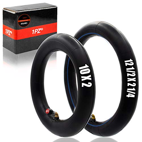 1PZ ITX-FR1 12 1/2'x 2 1/4'(12.5x2.25') and 10x2' Scooter Inner Tubes Set for Folding Electric Bicycle Swagtron SwagCycle E-bike