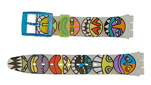 Swatch Armband 17mm POP Bones AGK230