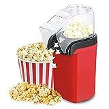 Palomitero para Hacer Palomitas de Maiz, 1200W Maquina de Palomitas con Aire Caliente Sin Grasa Aceita, Maquina Electrica de Popcorn, Popcorn Maker con Tapa Removible