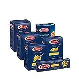 Barilla Pasta Variety Pack, Multipack con 6 tipi - Rigatoni, Tortiglioni, Risoni, Gramigna, Spaghetti, Ditaloni Rigati, 6 confezioni da 500 g - 3 kg (Pack 4)