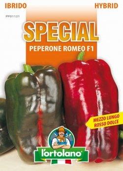 Sementi di ortaggi ibride e selezioni speciali ad uso amatoriale in buste termosaldate (80 varietà) (PEPERONE ROMEO F1)