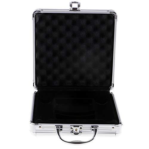 sharprepublic Aluminium Poker Chip Case Aufbewahrungsbox Container Casino Teile Zubehör - 100pcs
