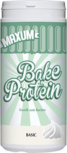 Maxum Bake Protein Neutral, 390 g Dose - Eiweißpulver neutral ideal zum proteinreichen Backen - 84 g Eiweiß je 100 g Pulver