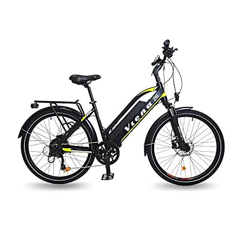 """URBANBIKER vélo électrique VTC VIENA (Jaune 26""""), Batterie Lithium-ION Cellules Samsung 840Wh (48V et 17,5Ah), Moteur 350W, 26 Pouces, Freins hydrauliques."""