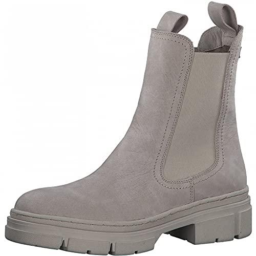 Tamaris Damen Stiefeletten, Frauen Chelsea Boots,Comfort Lining,TOUCHit-Fußbett,Bootee,Booties,halbstiefel,Kurzstiefel,Taupe NUB. Uni,39 EU / 5.5 UK