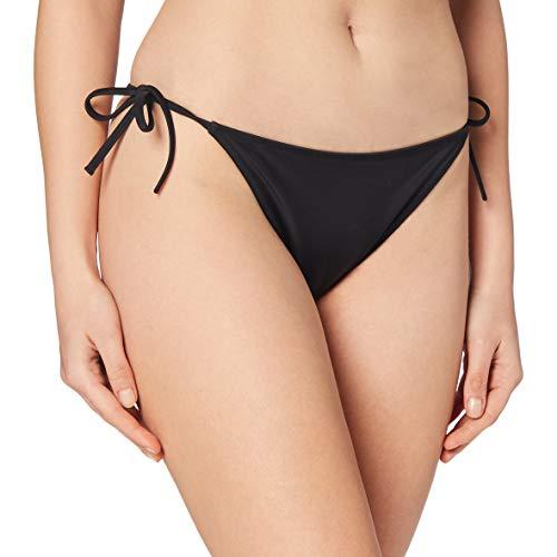Calvin Klein Cheeky String Side Tie Bragas de Bikini, Pvh Negro, S para Mujer
