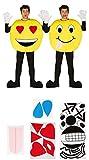 Fiestas Guirca- Costume da Emoticon Taglia L, Colore Giallo, Unica, 84338