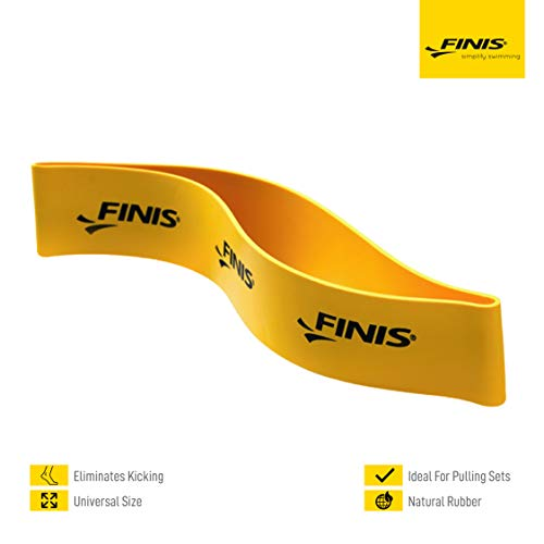Finis enkelband Pulling Ankle Straps, geel, One Size