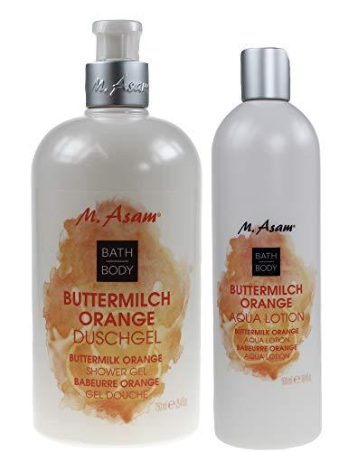 M. Asam® Buttermilch Orange Duschgel 750ml + Bodylotion Aqua Lotion 500ml