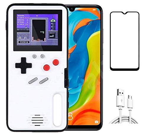 Homi2019 Game Hülle für Huawei P30 Pro, Retro 3D Schutzhülle mit 36 winzigen Spielen, Full Color Bildschirm, Cooler Handykasten des kreativen Entwurfs (Gratis Geschenk- Handy-Bildschirmschutzfolie)
