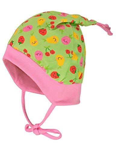 maximo maximo Baby-Mädchen Zipfelmütze, Bindeband Mütze, Mehrfarbig (apfelgrün/Rot-Früchte 31), 45