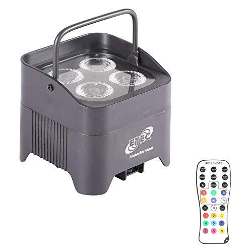 ETEC Akku LED Par Scheinwerfer E412 mit 4x12W RGBWA+UV WIRELESS DMX Uplight Floorspot BBP Disco Party DJ Club Effekt Strahler 94 Funk Wifi