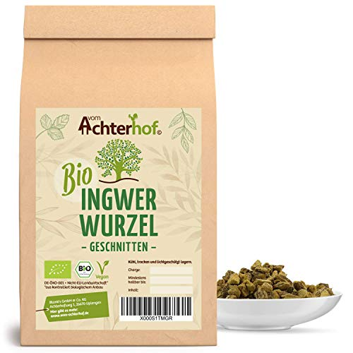 Ingwerwurzel Tee BIO (250g) | Ingwertee | Bio-Ingwer getrocknet geschnitten vom Achterhof