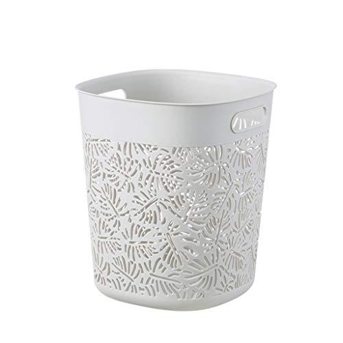 Zanzan Papelera baño, Bote de Basura, plástico Papelera 12L /3.1gal,Waste y Reciclaje de Basura de la Basura de clasificación for el baño/Dormitorio/Dormitorio/Colegio/Oficina Papelera Oficina