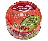 Les mouettes d'Arvor Ajo de Tomate Premium de Atún 160g - Rebanada entera de atún blanco con tomates solterizados y ajo cubierto con aceite de oliva virgen extra