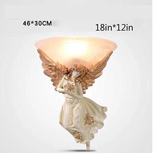 CLX lampenkap van glas, rond, creatief, hars engel voor plafondverlichting retro messing lamp in de kleur ijzer