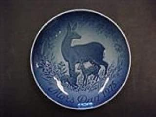 Bing & Grondahl Mothers Day Plate Doe and Fawns 1975