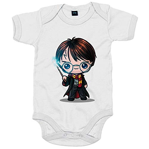 Body bebé Chibi Kawaii Harry Potter primera version parodia - Blanco, 6-12 meses