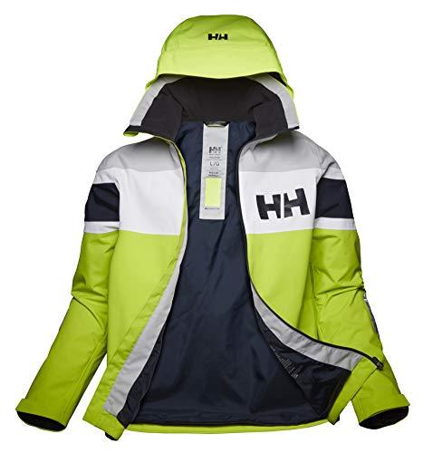 Helly Hansen Chaqueta con bandera de sal para hombre, Hombre, Chaqueta para hombre., 33909, verde, S