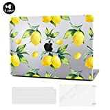 MacBook Air 13 Inch Case Transparent 2018 Release A1932 with Retina DisplayPlastic Hard Shell & Keyboard Cover & Screen Protector Only Compatible (MacBook Pro 13 (A1706/A1708/A1989), Lemon)
