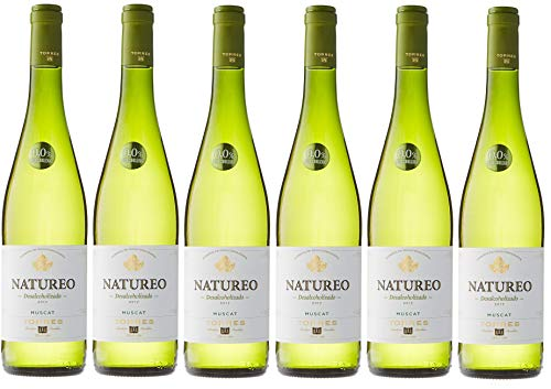 Natureo Muscat (Sin Alcohol), Vino Blanco Desalcoholizado - 6 botellas de 75 cl, Total: 4500 ml