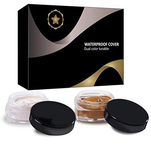 MIMIGA Correcteur de Cicatrice imperméable à l'eau Professional Correcteur de cernes repères Taches de Naissance Maquillage Couverture Couvrant crème