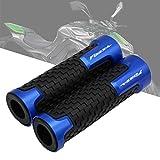 DZSLTC Pit Bike Manejas para HO┐NDA Forza Forza 125 250 300 2010-2018 7/8 Pulgadas 22mm CNC Empuñaduras De Manillar Motocicleta Universales Empuñaduras Goma Antideslizantes Puños Moto (Color : Azul)