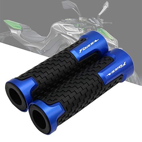 Puños De Goma Aleación CNC De Moto para Honda Forza 125cc 250cc 300cc 7/8'22mm Puños del Manillar De Motocicleta Piezas del Acelerador Giratorio Tapones Barra Accesorios De Boutique (Color : Azul)