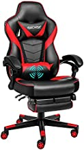 Video Gaming Chair Racing Office - PU Leather High Back Ergonomic 170 Degree Adjustable Swivel Executive Computer Desk Task Large Size with Footrest,Headrest and Lumbar Support (Red)