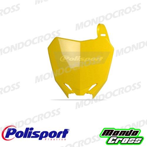 MONDOCROSS Tabella portanumero anteriore POLISPORT Giallo rm01 Colore OEM 2010 e 2013/2017 SUZUKI RMZ 250 10-17 RMZ 450 08-17