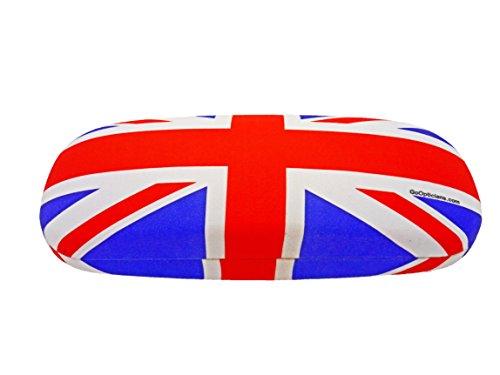 Hard GoOpticians Brillenetui, Union Jack, mit Geschenkbox, Blau, Rot, Weiß, M
