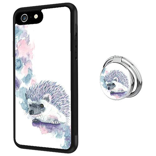 Hynina Phone Case and Phone Ring Buckle Compatible for iPhone 6s 6 (Watercolor Baby Hedgehog)