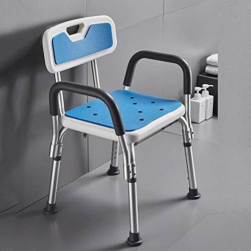 PHOOW Silla de Ducha Silla de baño, Taburete de baño, Silla para discapacitados, Baño, Ducha de baño, Asiento con reposabrazos Antideslizantes (Blanco) (Color : B)