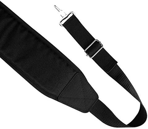 LZFAN Golf Bag Shoulder Strap Single Padded Adjustable Straps Universal Replacement All in Black product image